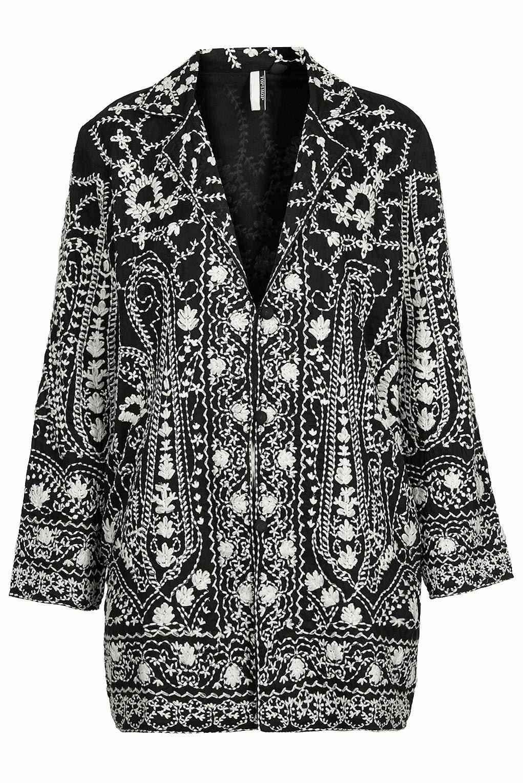 black embroidered jacket