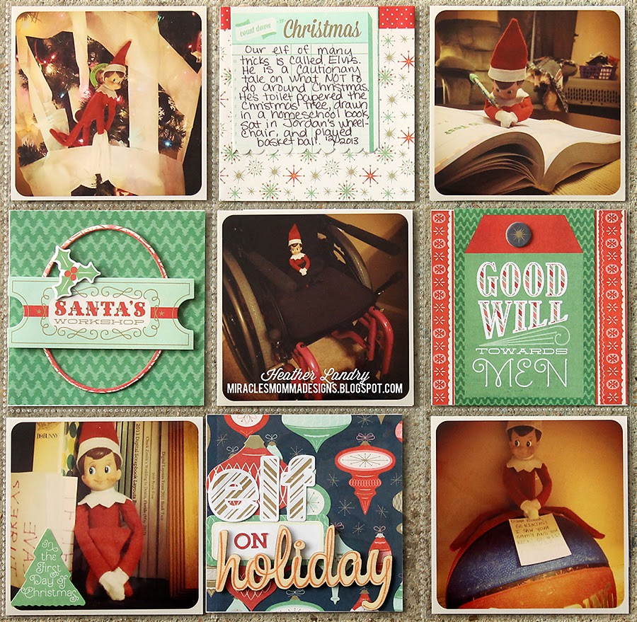 Elf On The Shelf_Scrapbook_Pocket Page