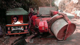 Rajnikanth Baashha Auto vs Road Roller