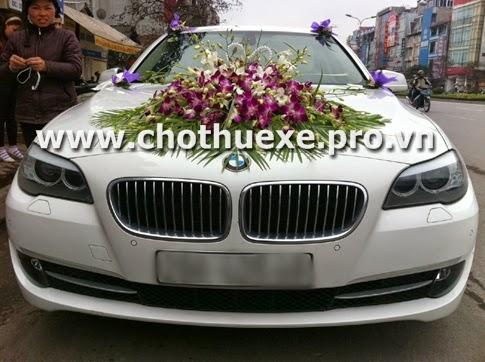 Cho thuê xe cưới BMW 532i màu trắng