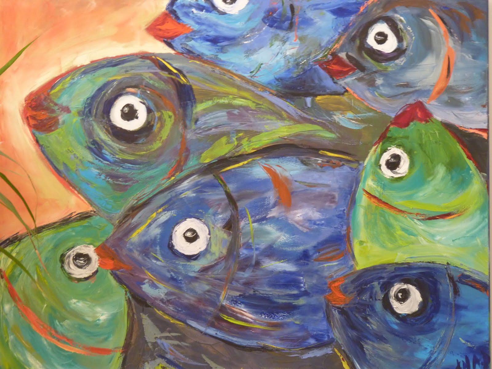 Ana y sus cuadros peces for Cuadros de peces