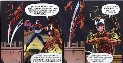Amazing Spider-Man 403 Carnage witness stand