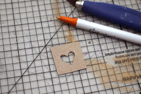 create a heart stencil from a cereal box