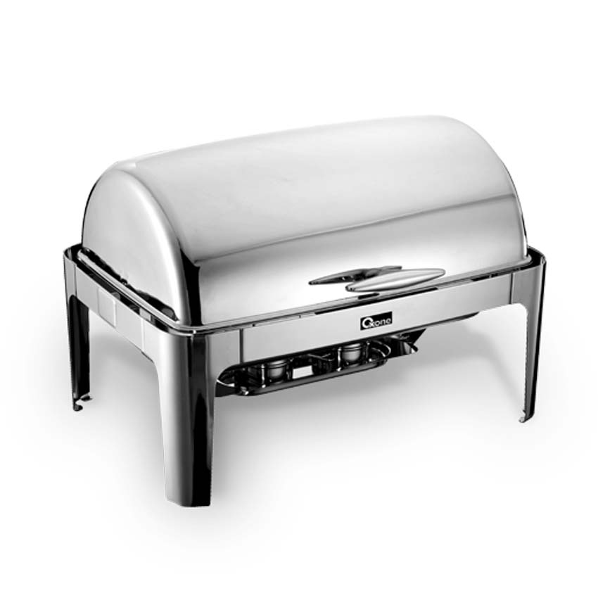 OX-717OB Oxone Rectangle Roll Top Chafer - Stainless