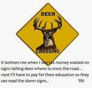 deer cant read warning sign funny image