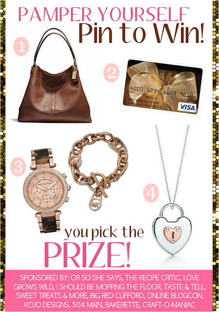 Pin it to Win it - Pamper Yourself! You pick the prize!