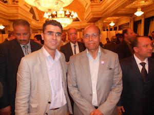 مع رئيس الجمهورية المؤقت المنصف المرزوقي