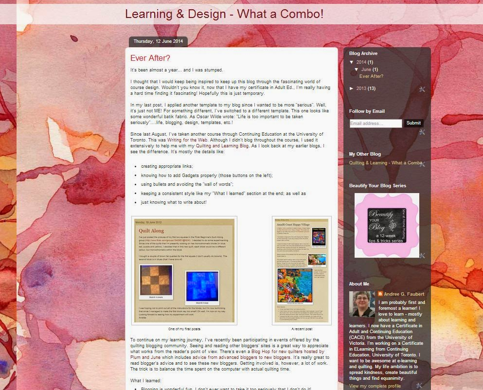 Learning & Design Blog - Before Picture
