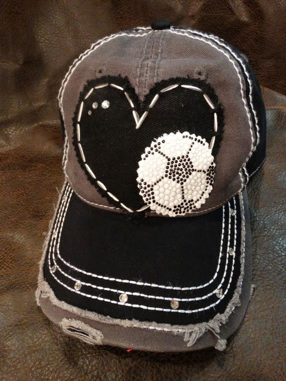 Soccer mom hat, blingirl, soccer hat
