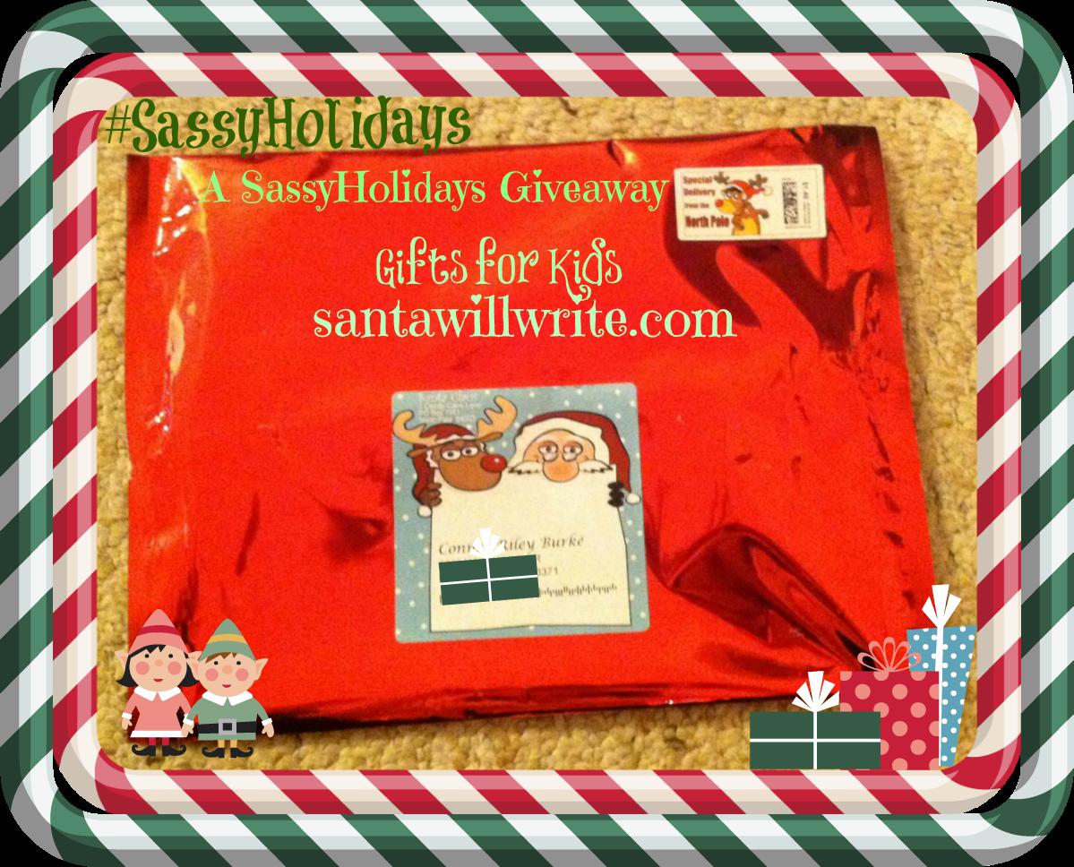Santa Will Write Giveaway: SassyHoliays Gift Guide