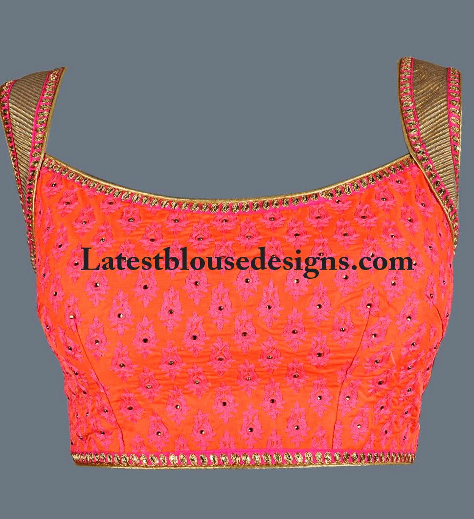 blouse front neck patterns