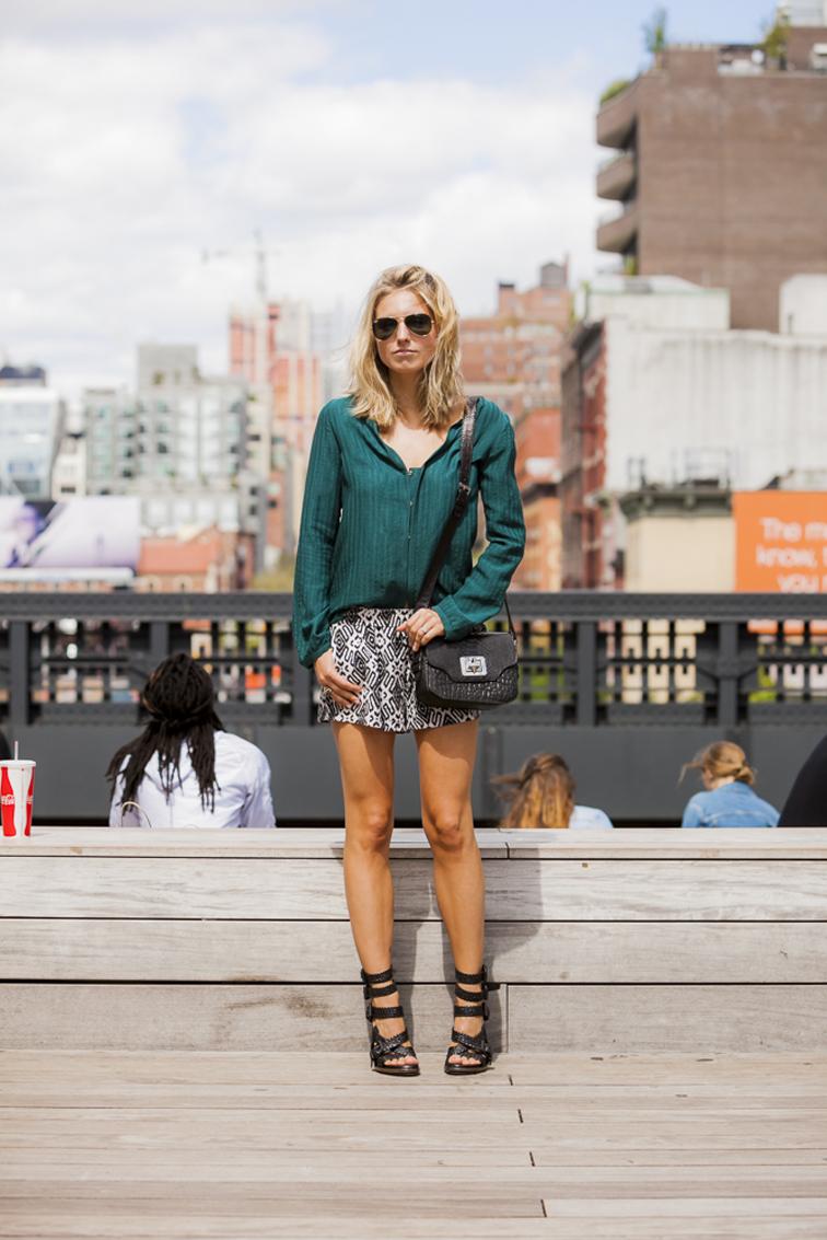 NYC Highline Pattern Shorts Pyton Crossbody Bag Emm Kuo