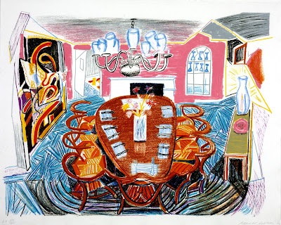 David Hockney - Tyler Dining Room 1984