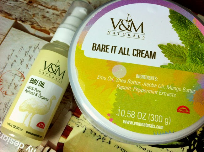 Venus & Mars Naturals Emu Oil and Bare It All cream