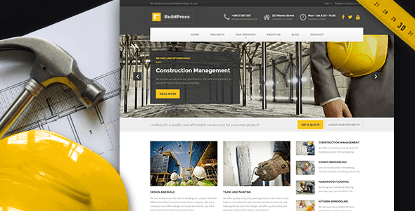 BuildPress - Construction Business WP Theme v2.1.0