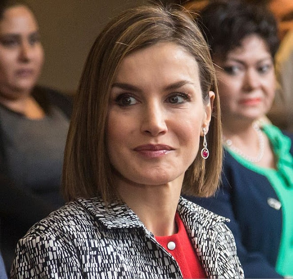 Queen Letizia of Spain met with the Iberoamerican Alliance for Rare Diseases at Presidente Hotel