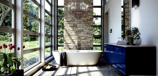 Baño Con Vista Al Jardin:Baños con jardín – Colores en Casa