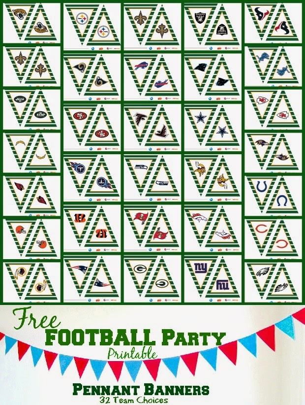 One Savvy Mom ™ | NYC Area Mom Blog: Free Printable Football Party ...