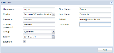 Membuat user Proxmox 2.3