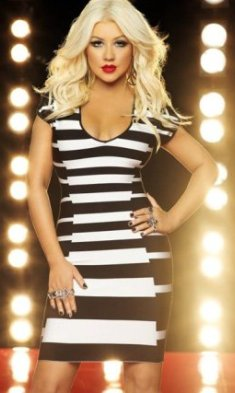 Christina Aguilera with airbrushing