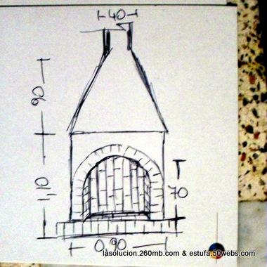 Estufas chimeneas y barbacoas diciembre 2011 Planos de chimeneas de lena