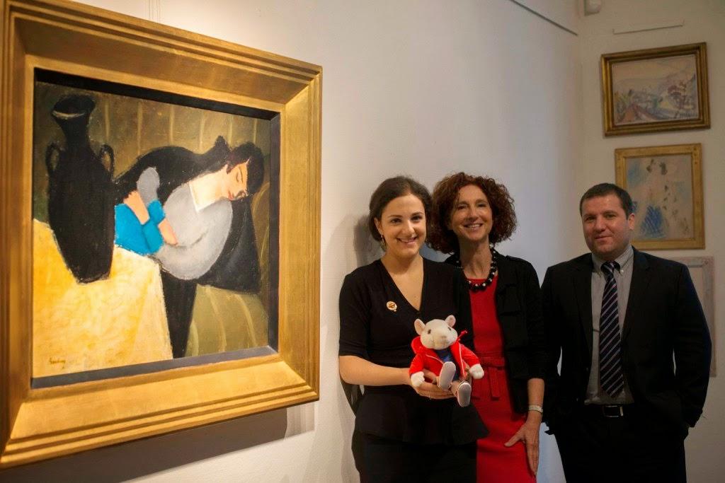 Breuer Eta, Berény Róbert, Alvó nő fekete vázával, Stuart Little kisegér, Virág Judit Galéria,