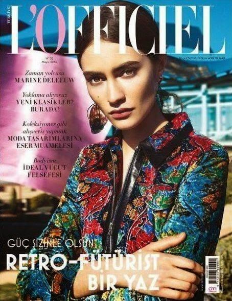 Model @ Marine Deleeuw for L'Officiel Turkey, May 2015