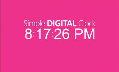 ব্লগস্পট সাইটে যোগ করে নিন - Simple Digital Clock