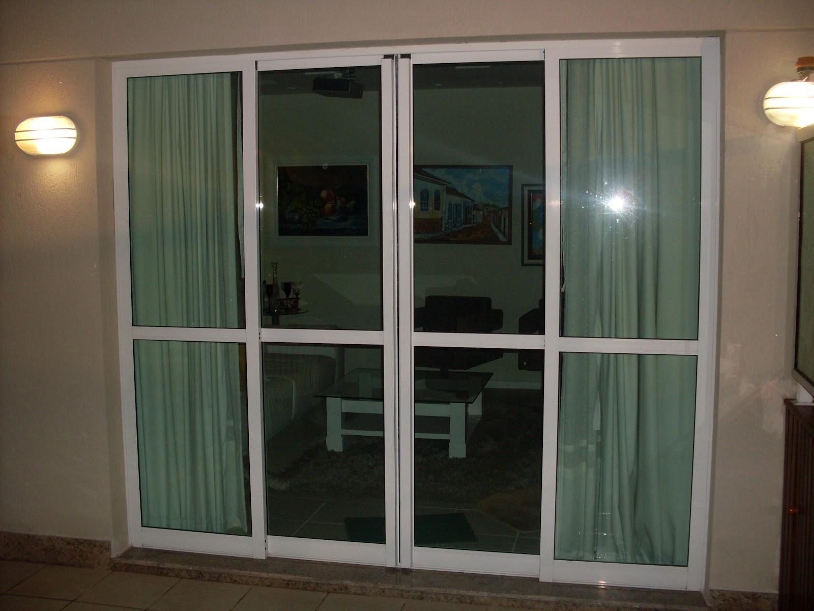 #866E45 Enzo Vidraçaria e Serralheria: Portas de Blindex/ Porta de alumínio  978 Porta E Janela De Aluminio Preço