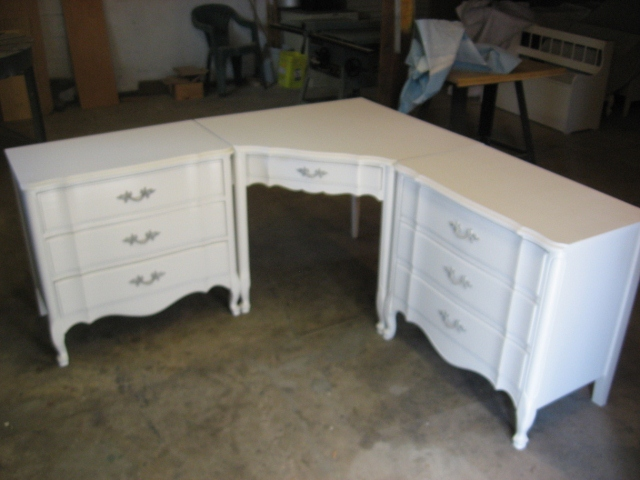 Each Side Dresser Measures 30 1 2 X 18 29 Tall From Back Corner Of Desk To End Is 65 Inches 220 00 Sold