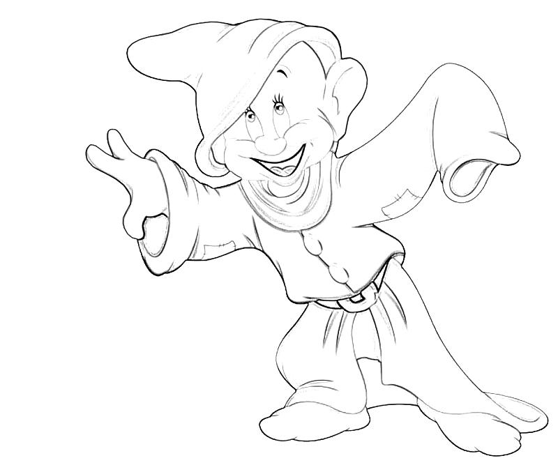 coloring pages of dopey - photo#23