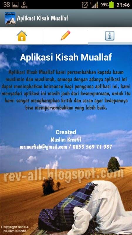 Tentang aplikasi kisah muallaf - aplikasi kumpulan kisah muallaf sebagai motivasi dan inspirasi (rev-all.blogspot.com)