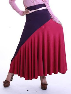 Skirt Labuh Kembang Umbrella 655 - Blueberry Pink