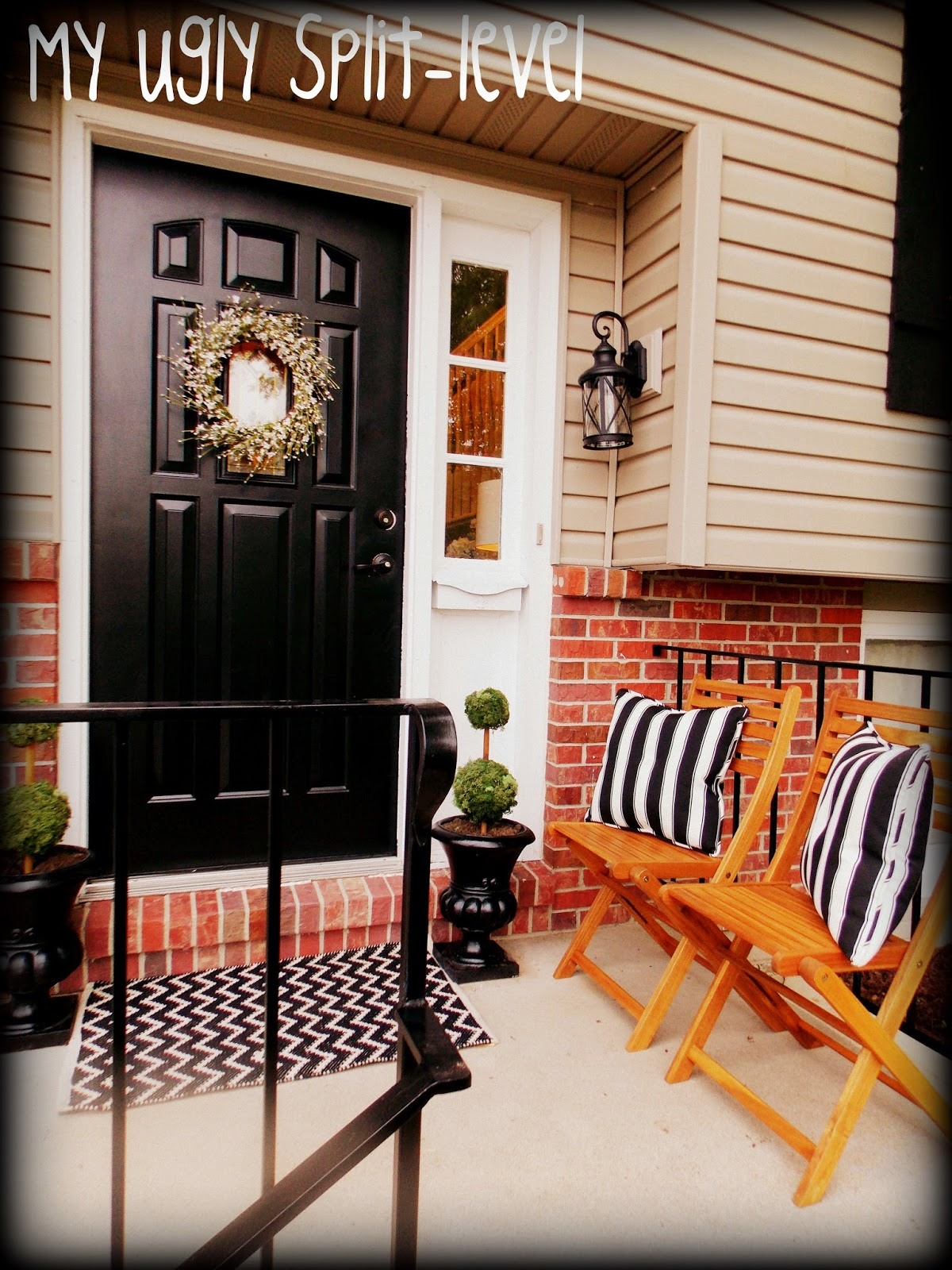 Split Foyer Front Porch Designs : My ugly split level inexpensive curb appeal