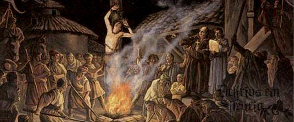 bruxa sendo queimada na era medieval