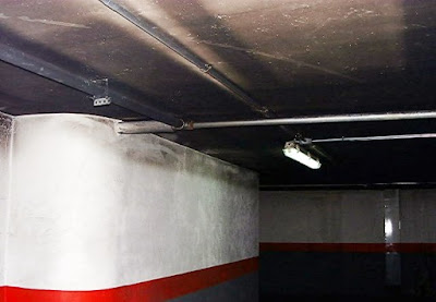 Garaje con deficiente ventilación.