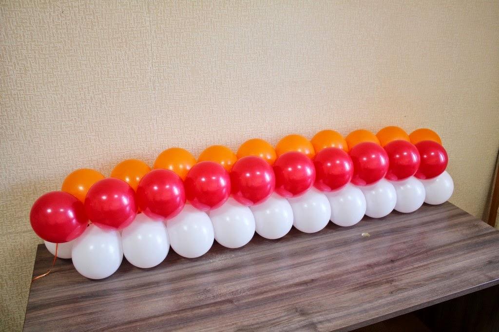 гирлянда из двоек воздушных шаров