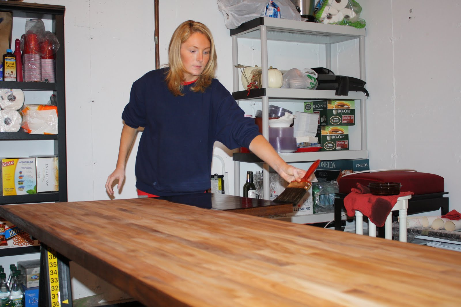 can you stain butcher block countertops above how it looked