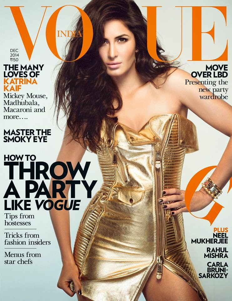Katrina Kaif on cover page of Vogue December! 2014