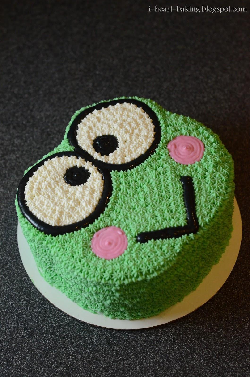 i heart baking   mint chocolate keroppi cake