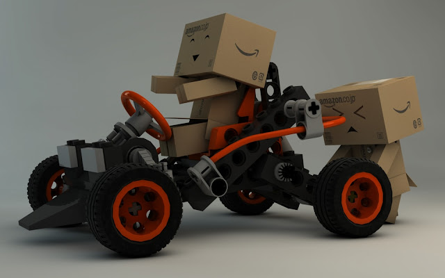 Danbo With Lego Buggy