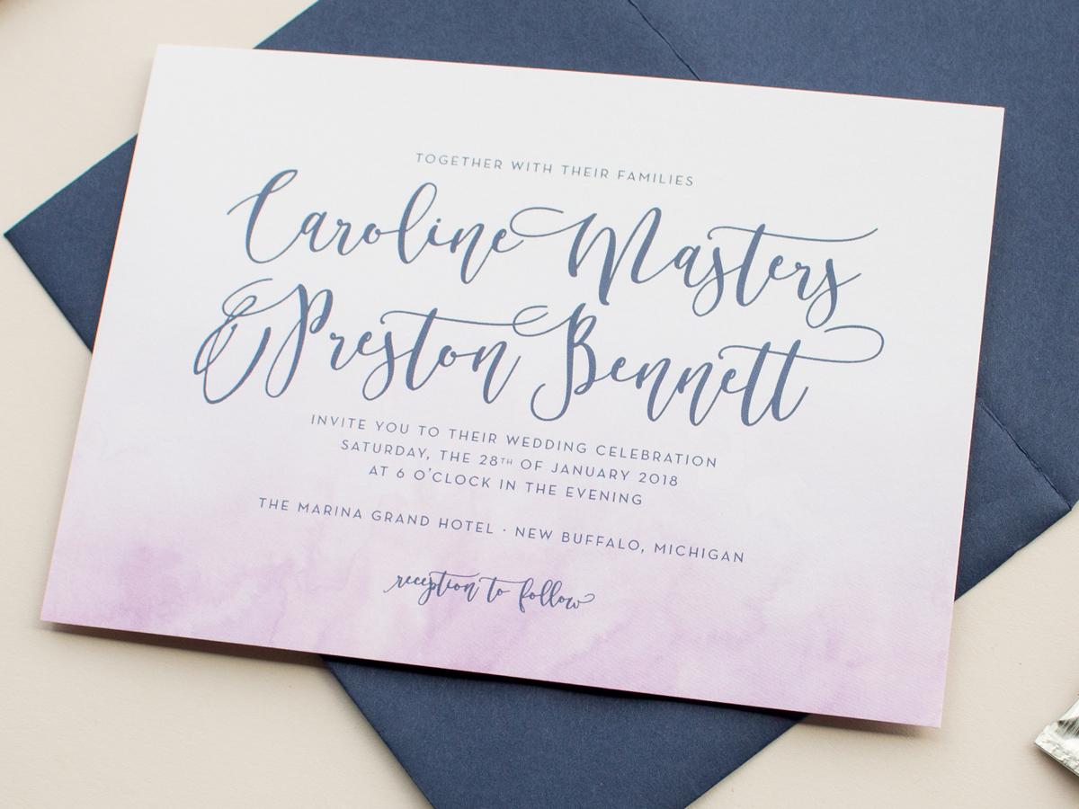 The Watercolor Collection 2016 Wedding Invitations: Watercolor Wash ...