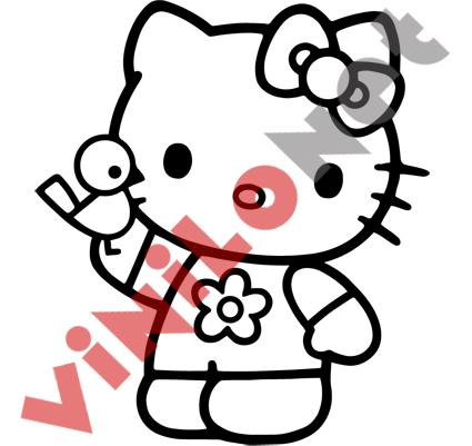 Hello kitty pegatina vinilo portatil decal sticker poster for Vinilo hello kitty