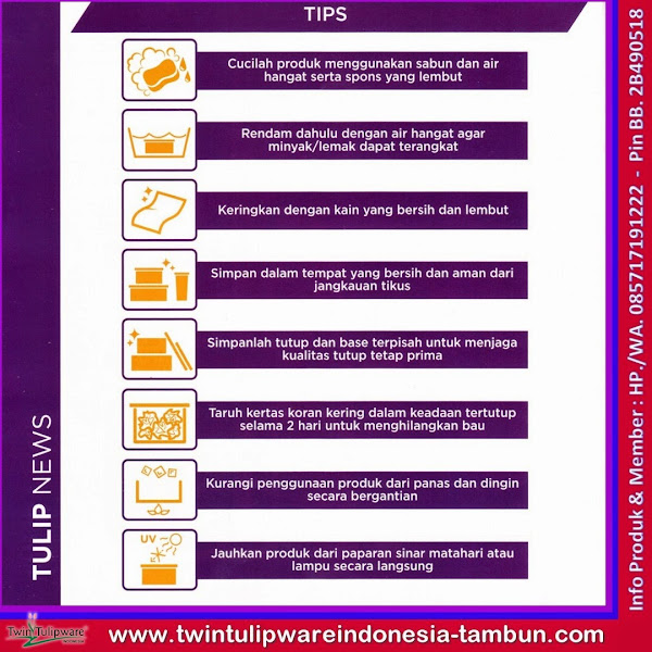 Tulip News, Info, Tips Perawatan Produk