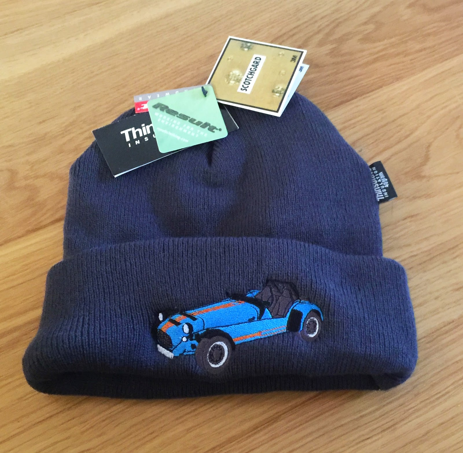 My new blat hat, with embroidered Caterham