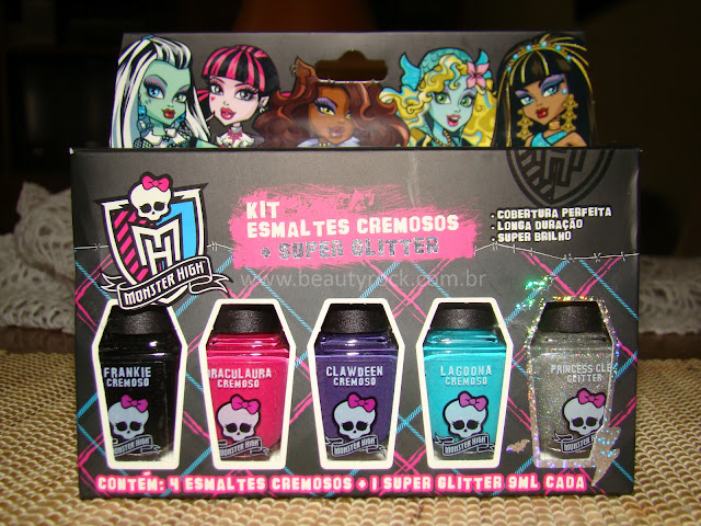 Resenha esmaltes cremosos Monster High