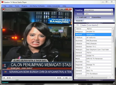 Readeon TV Movie Radio Player, Software Streaming TV dan Radio Gratis!