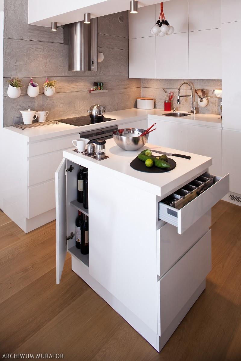 Zap tlona bia e kuchnie white kitchen for Elemento de cocina negro