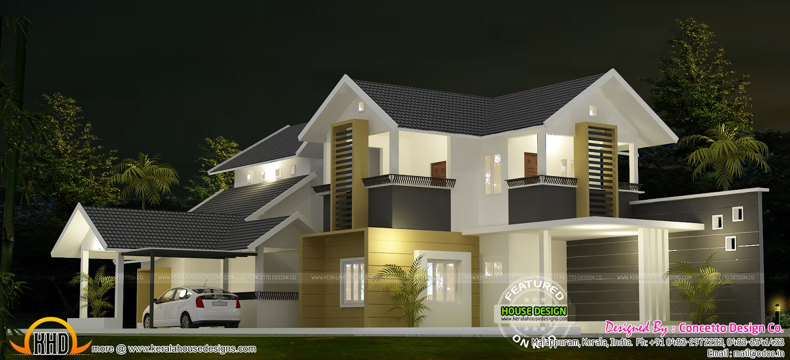 Contemporary Home Designs At Malappuram Part - 34: Please Follow Kerala Home Design