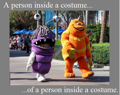 A Person Inside A Costume Of A Person Inside A Costume